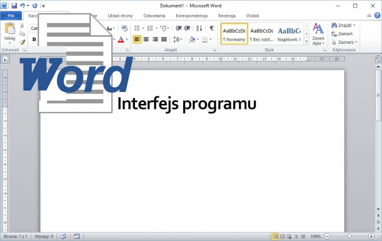 Interfejs programu Word 2010